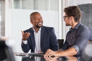 men at business meeting